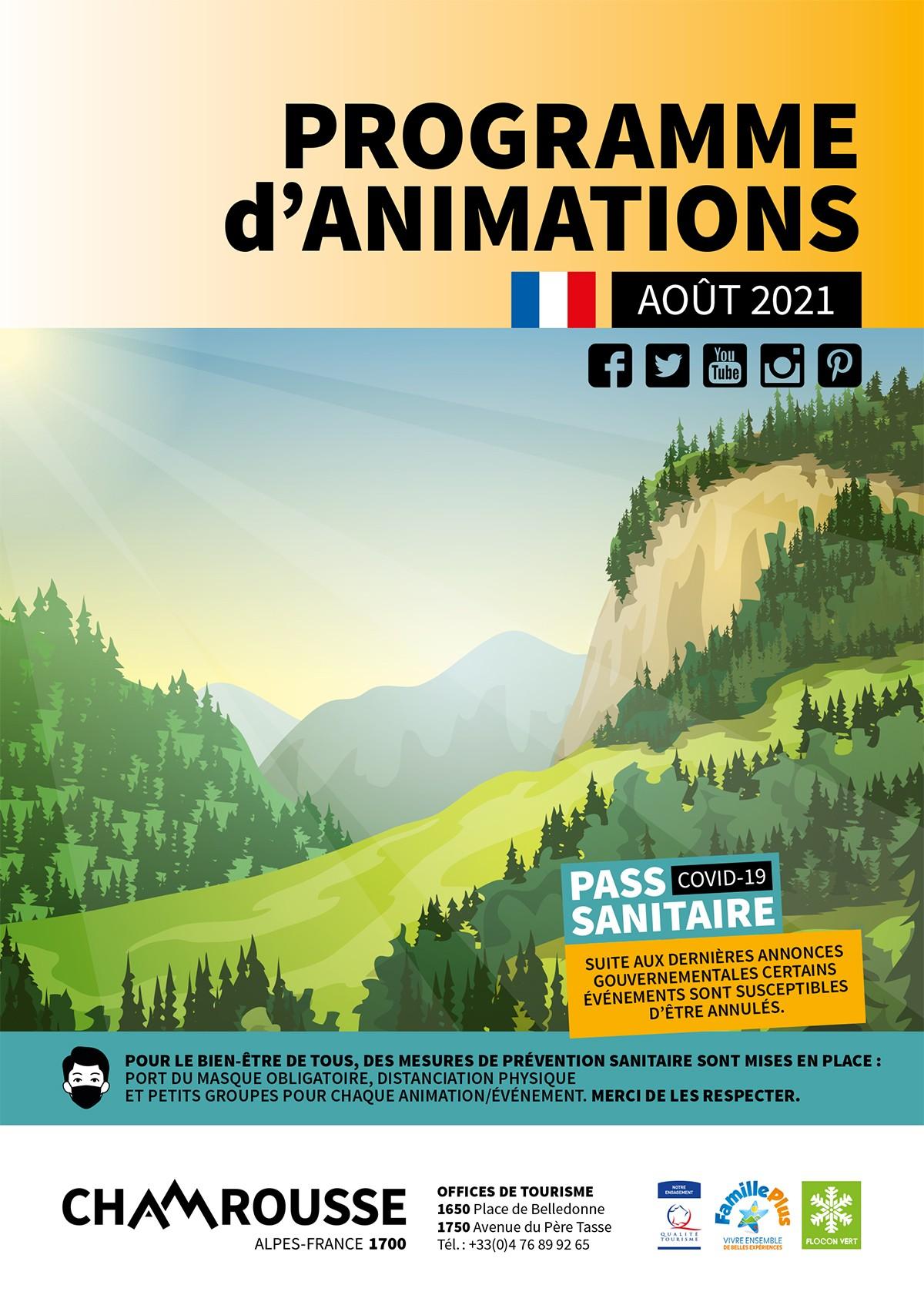 Chamrousse programme animation évènement août 2021 station montagne grenoble isère alpes france