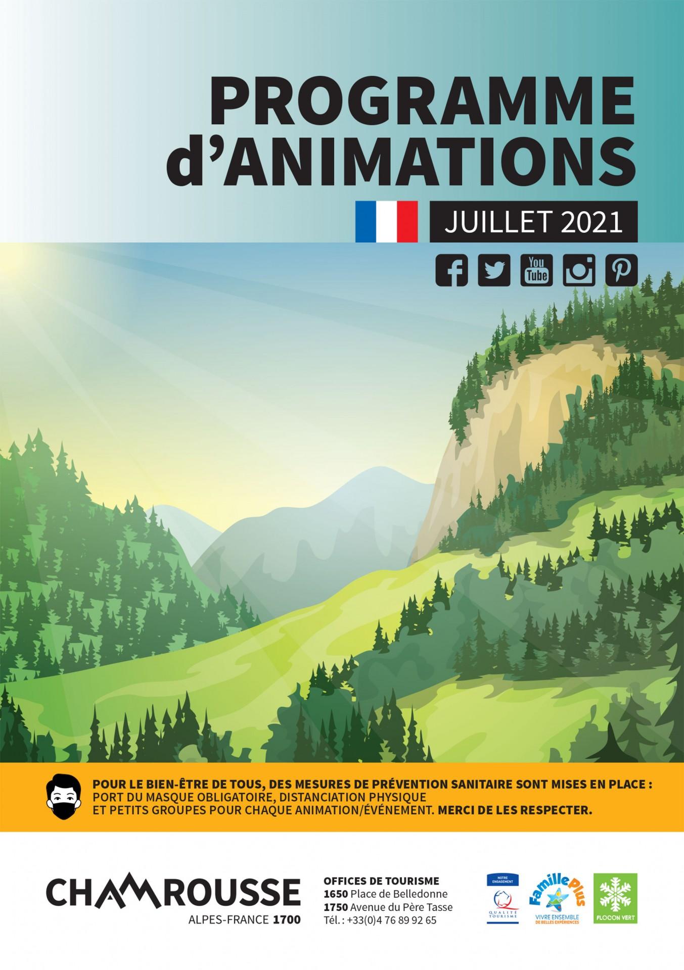 Chamrousse programme animation évènement juillet 2021 station montagne grenoble isère alpes france