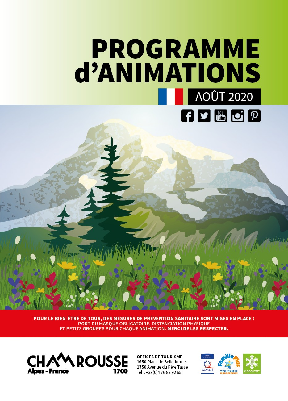Chamrousse programme animations août 2020 station montagne isère alpes france
