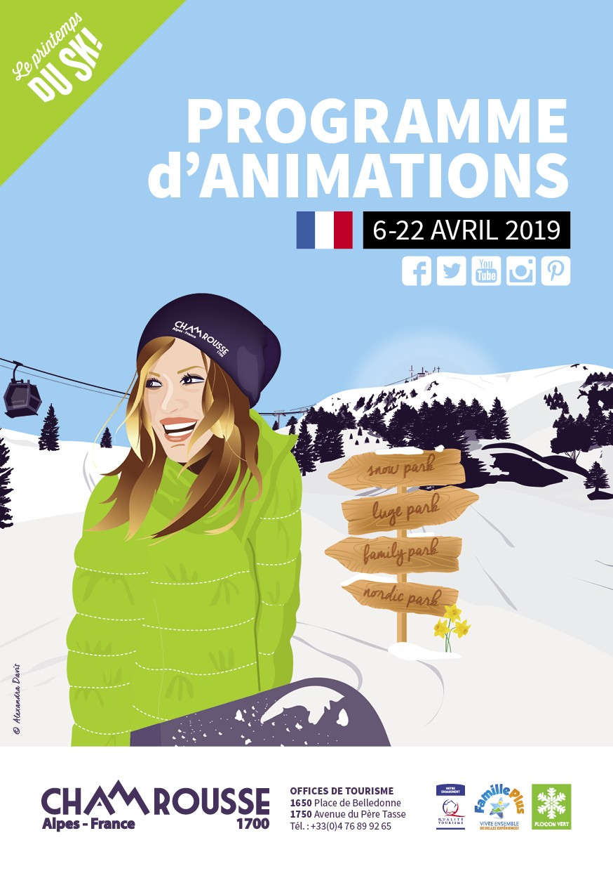 Chamrousse programme animations avril 2019 isere alpes France