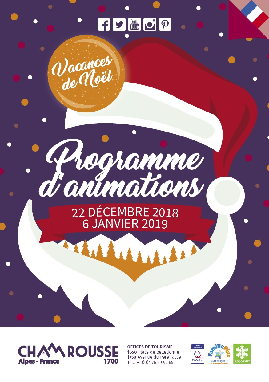 Chamrousse Programme animations hiver n°1 vacances noel