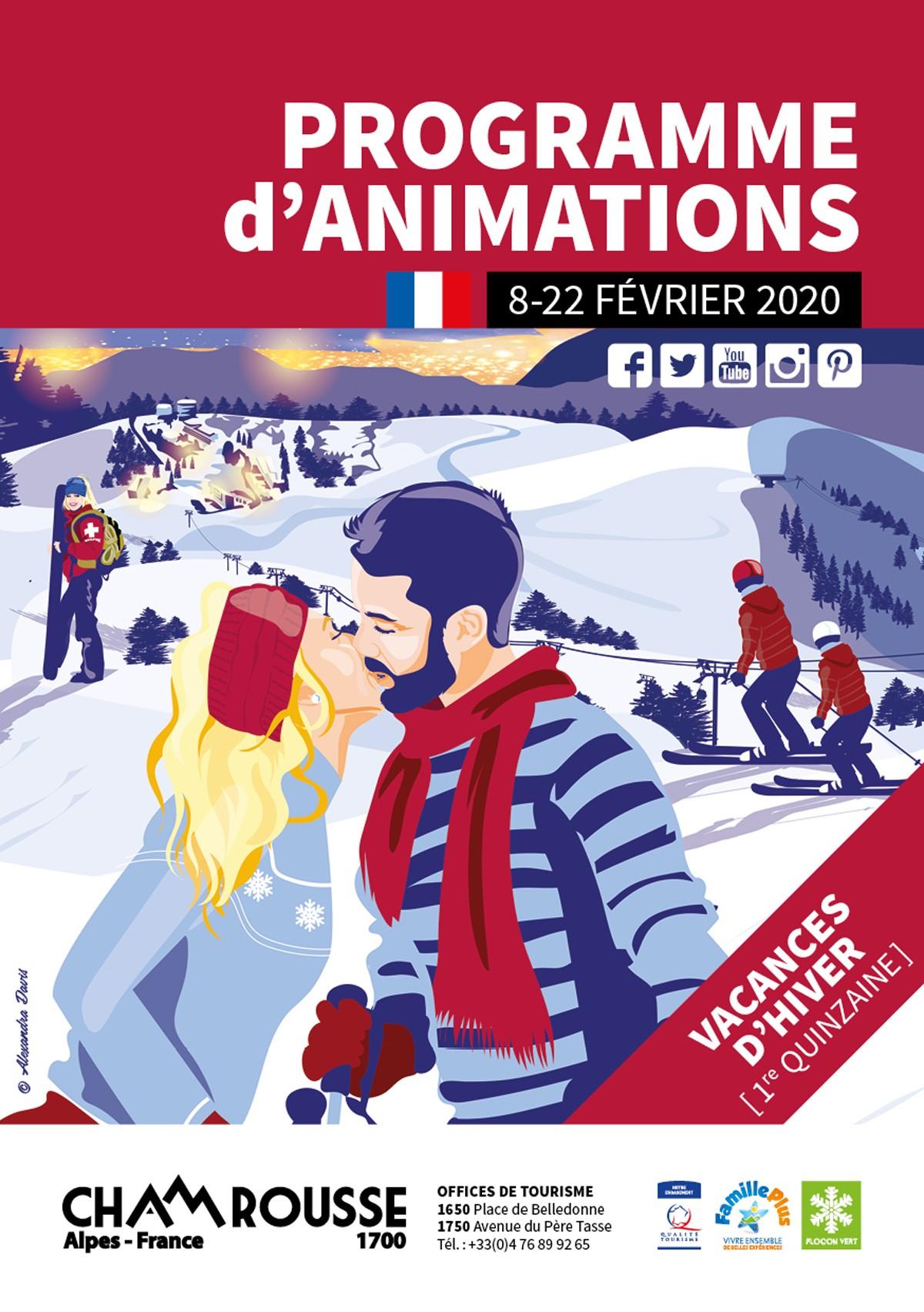 Chamrousse programme animations hiver février 2020 station ski isère alpes france
