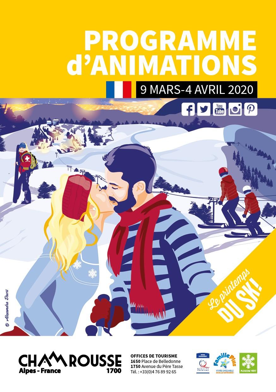 Chamrousse programme animations hiver mars avril 2020 station ski isère alpes france