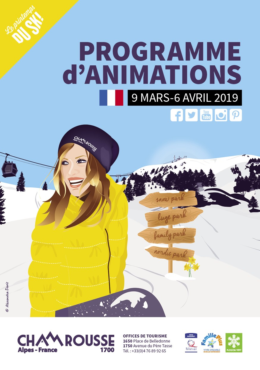 Chamrousse programme animations hiver n°5 - Mars et avril