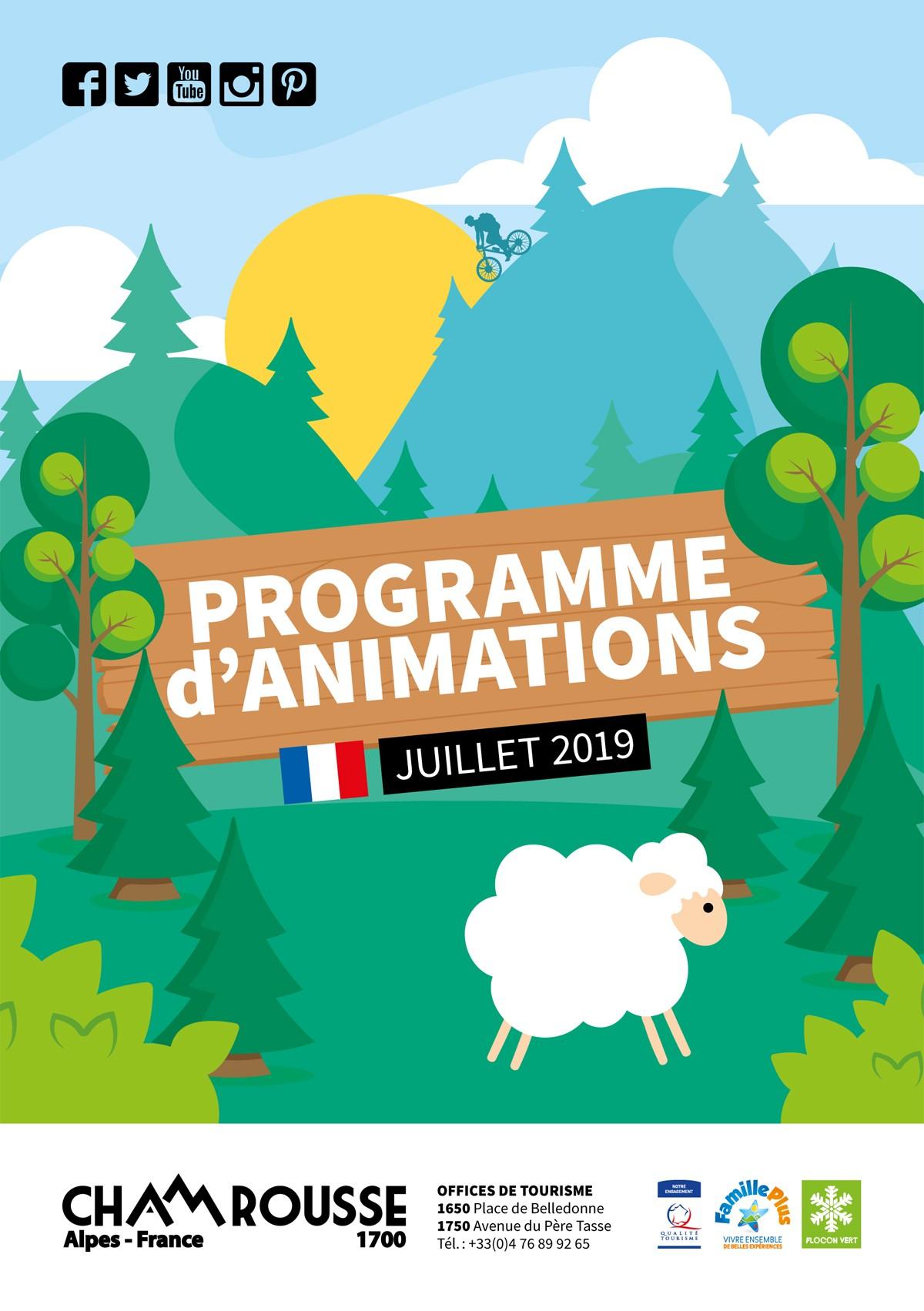 chamrousse programme animations juillet 2019 station montagne été isère alpes france
