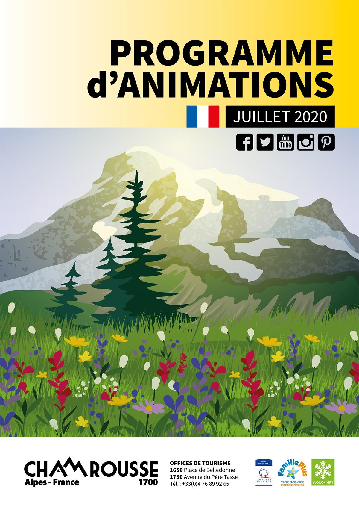 Chamrousse programme animations juillet 2020 station montagne isère alpes france
