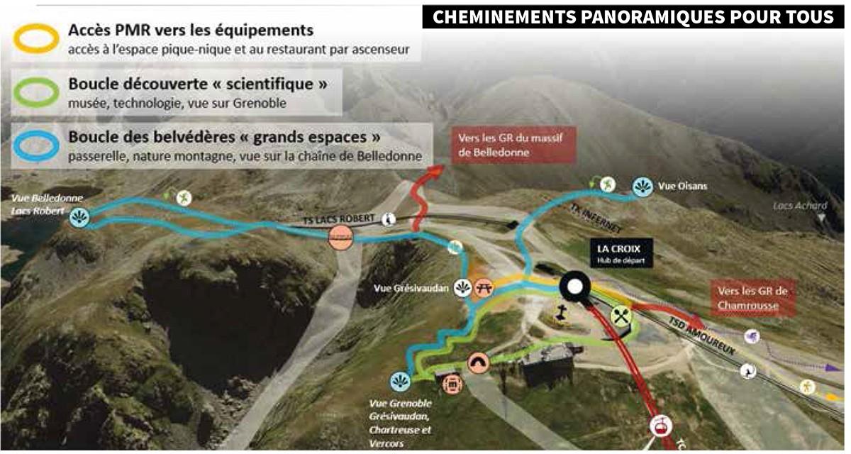 Chamrousse projet aménagement La Croix