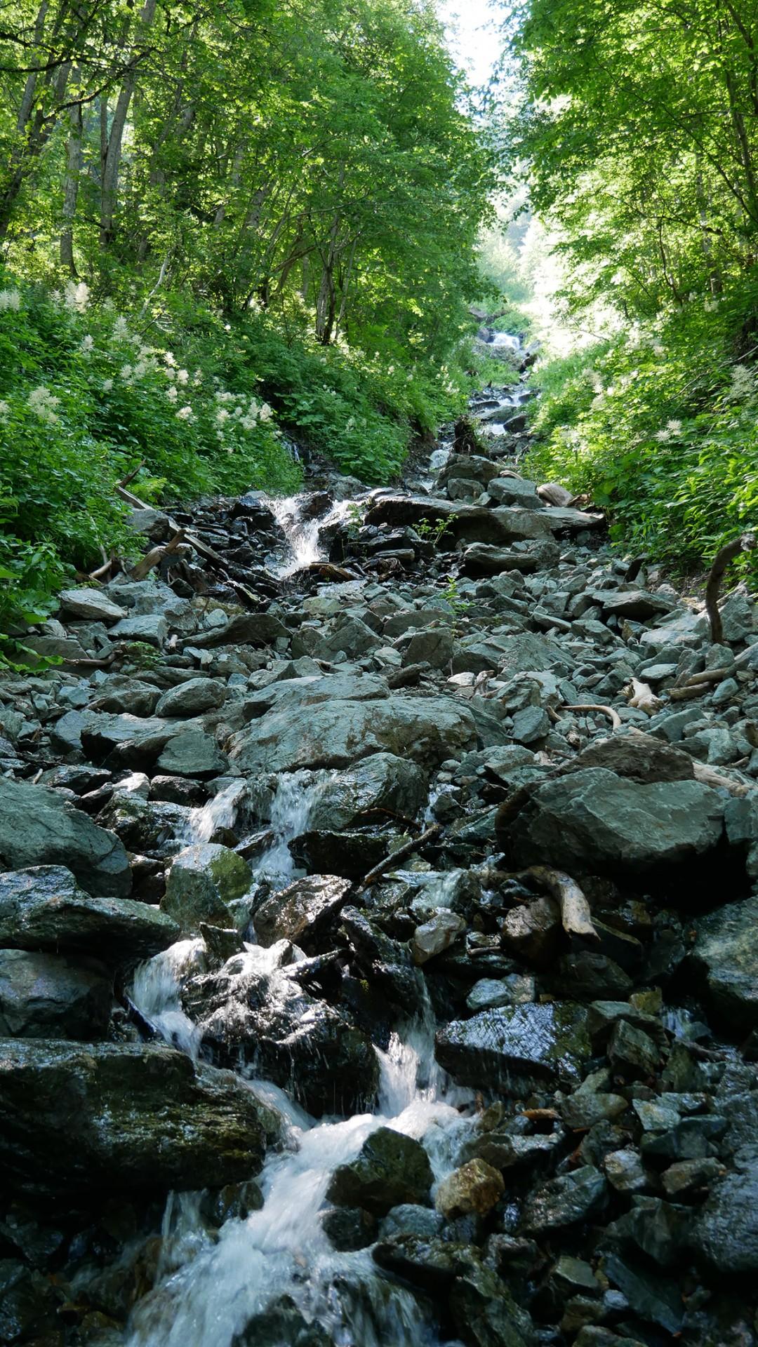 Chamrousse ruisseau cascade Oursière station montagne été isère alpes france