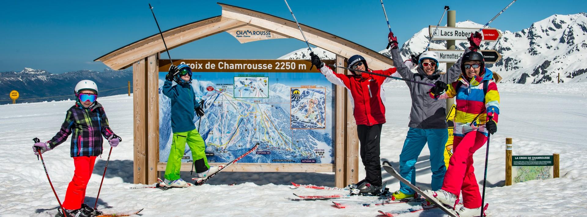 Chamrousse ski alpin famille
