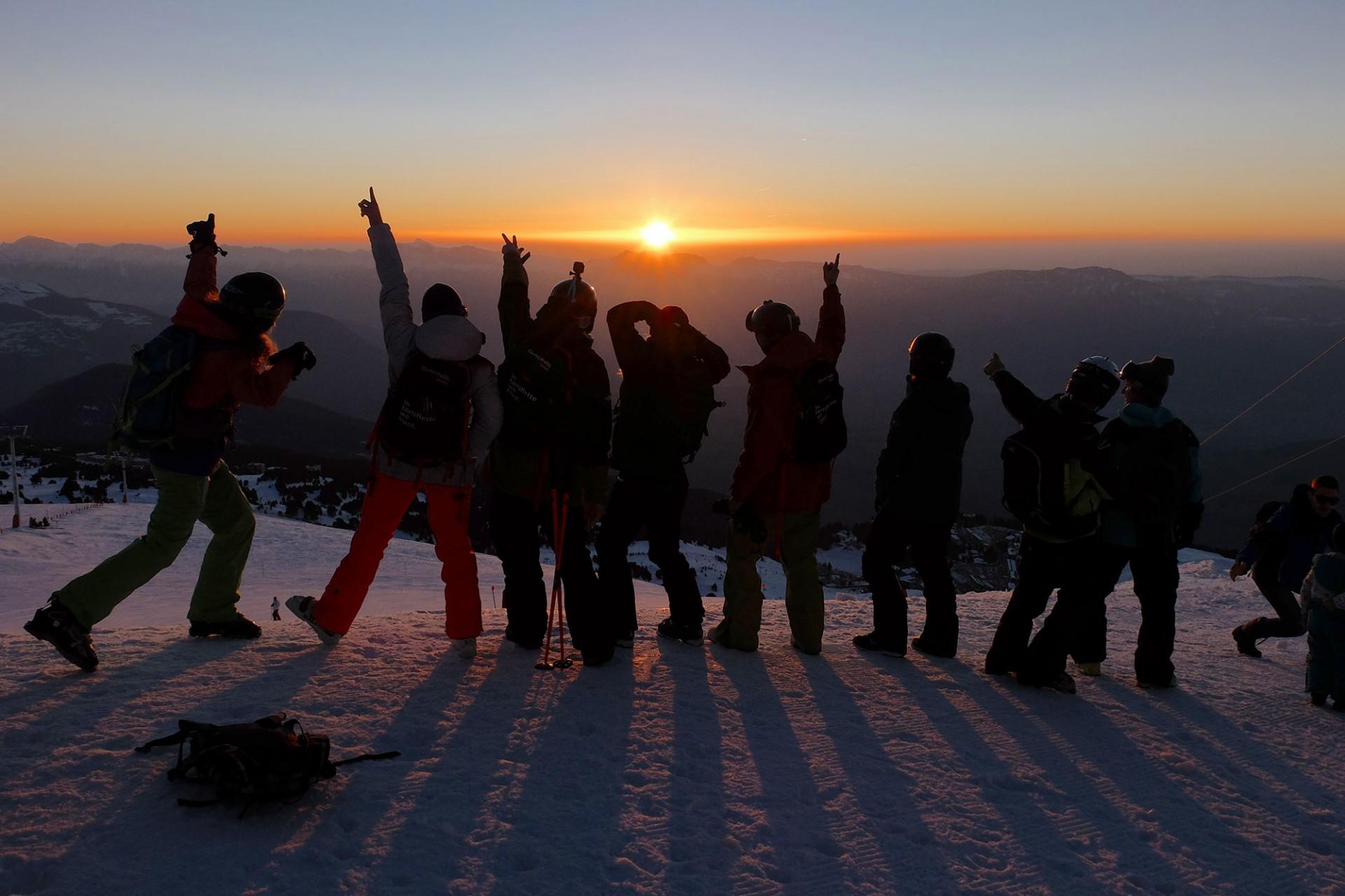 Chamrousse ski nocturne station ski hiver isère alpes france