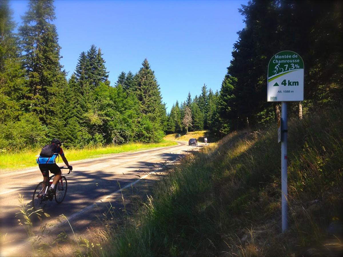 Chamrousse vélo de route montée cyclo cyclotourisme
