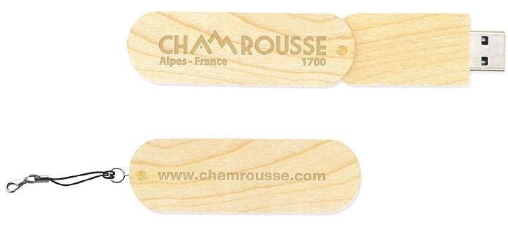 Chamrousse wood usb stick