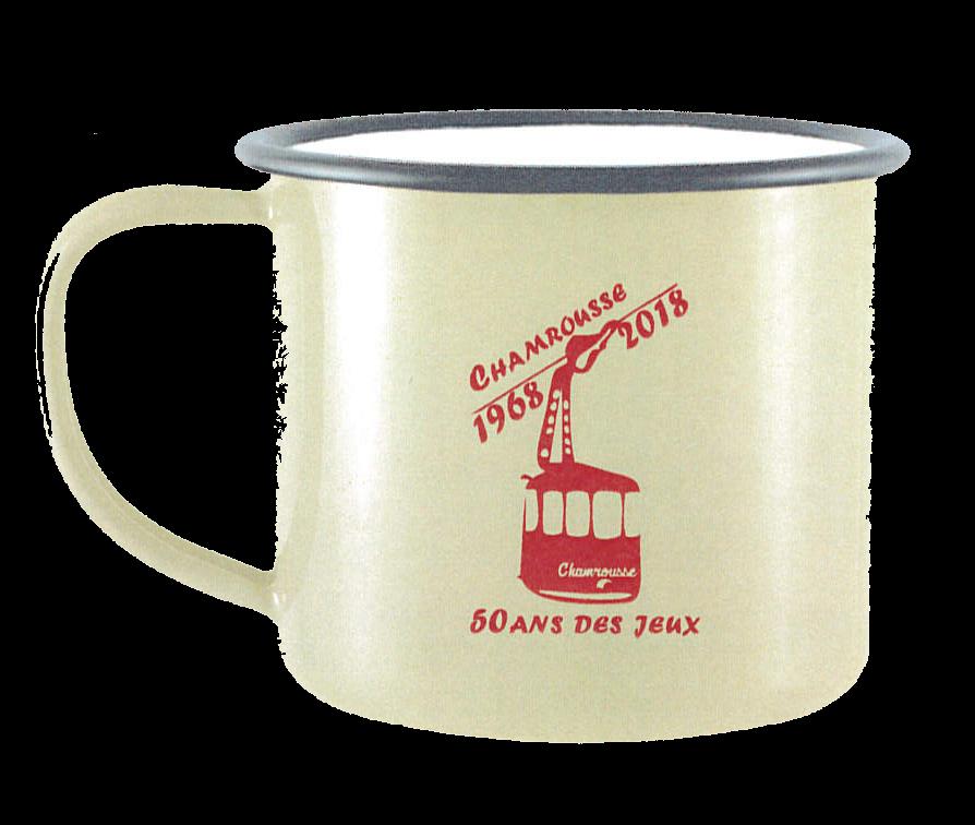 50th anniversary of Grenoble Olympics - Vintage white mug