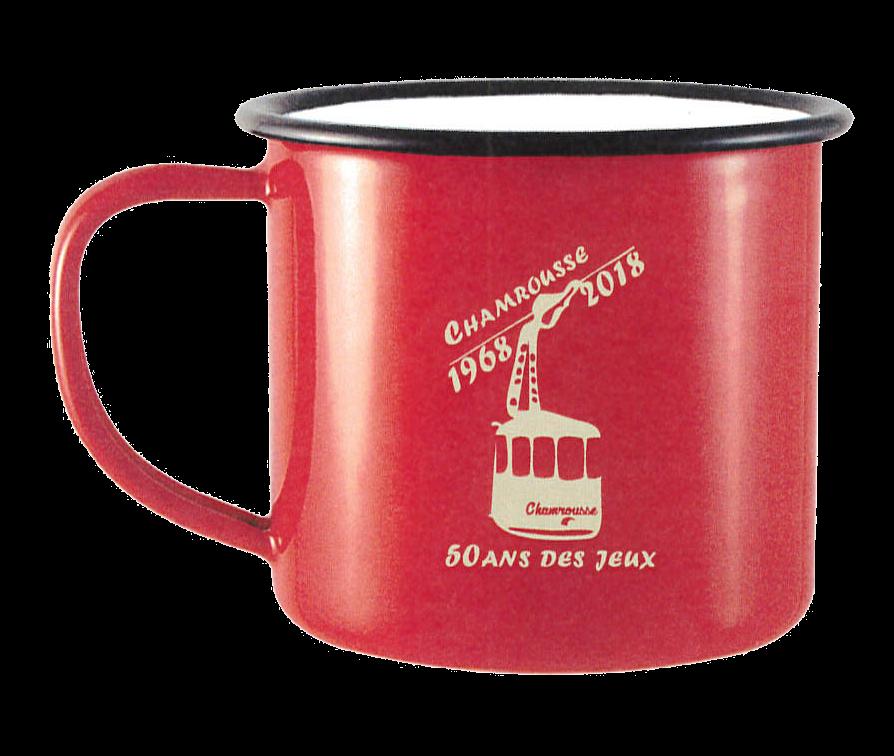 50th anniversary of Grenoble Olympics - Vintage red mug
