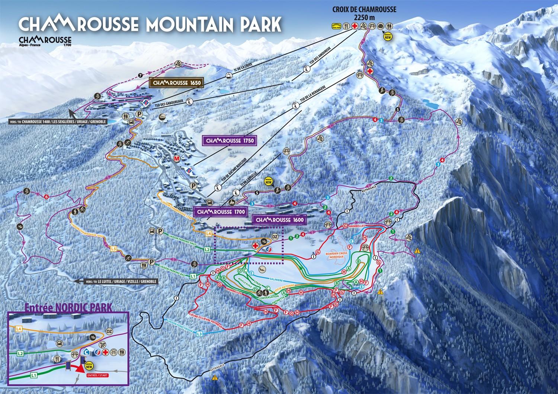 Chamrousse Nordisch Pistenplan