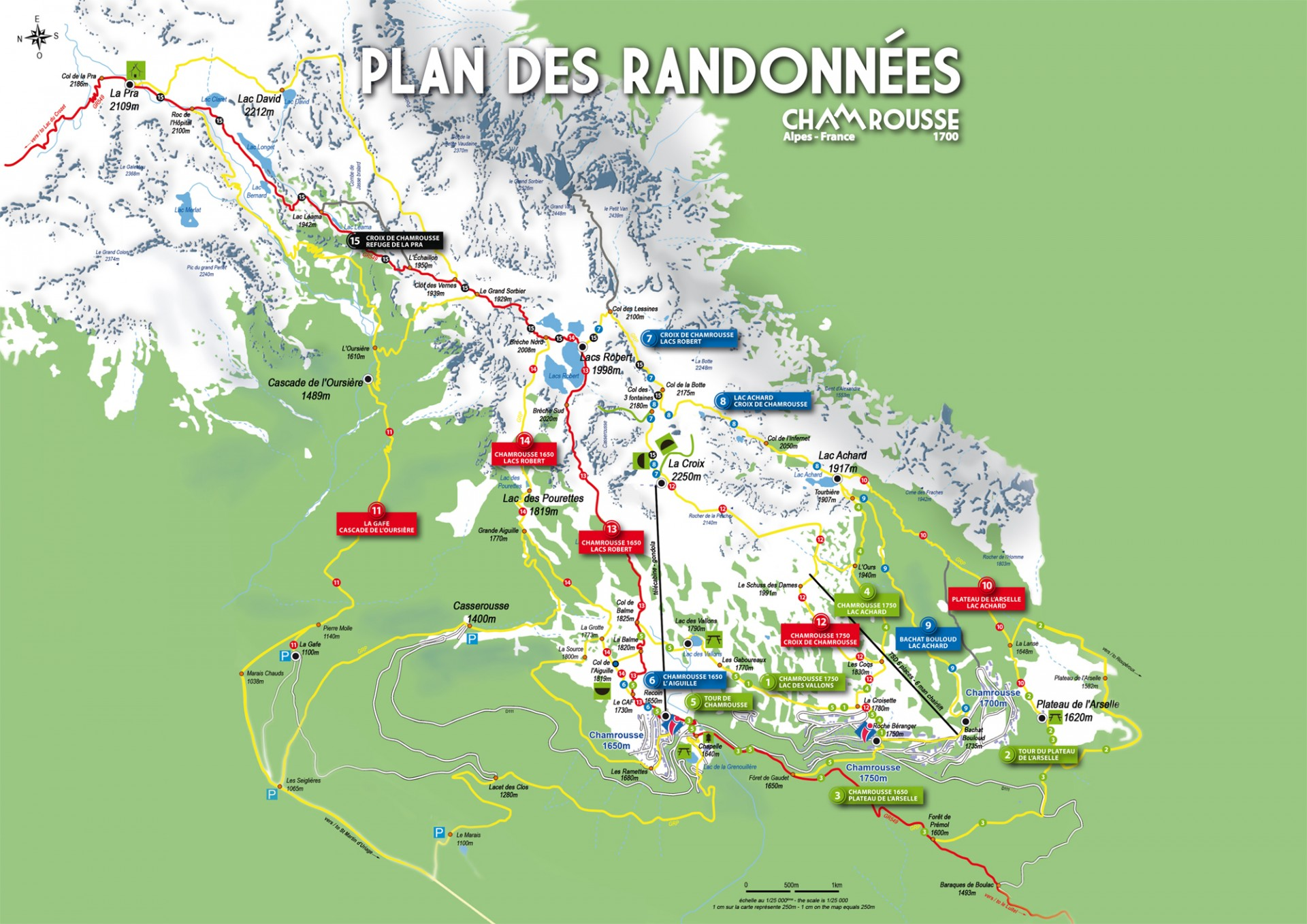 Plan randonnées Chamrousse