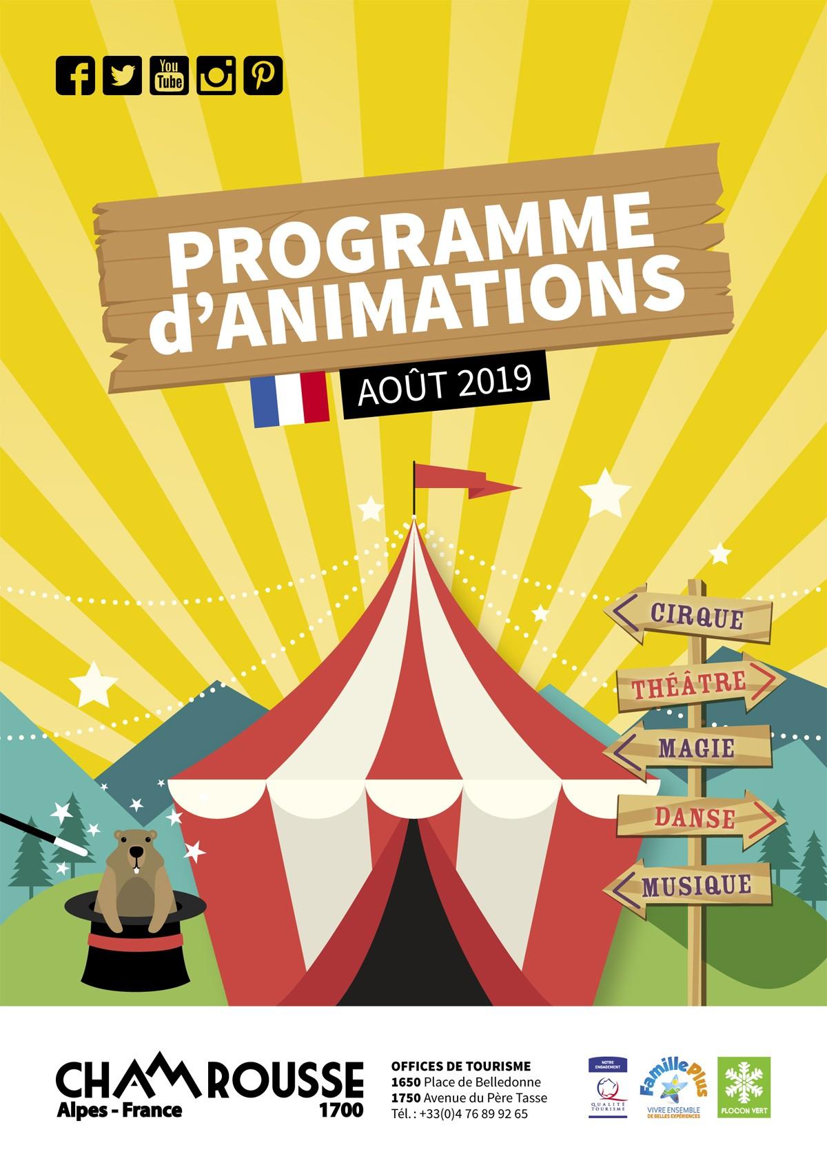 Programme animations août 2019 Chamrousse