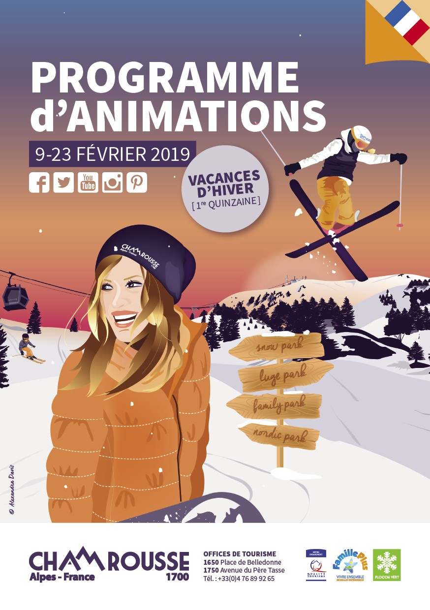 Programme animations Chamrousse hiver n°3 vacances fevrier
