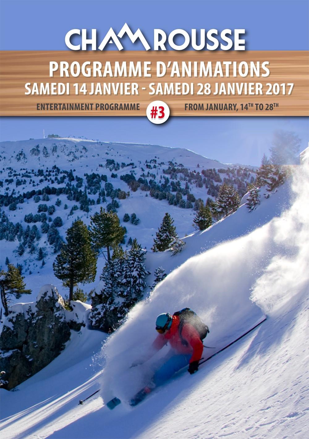 Programme animations hiver 2016-17 Chamrousse