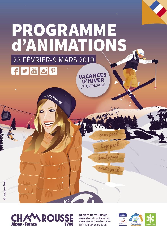 Programme animations hiver n°4 Chamrousse vacances février