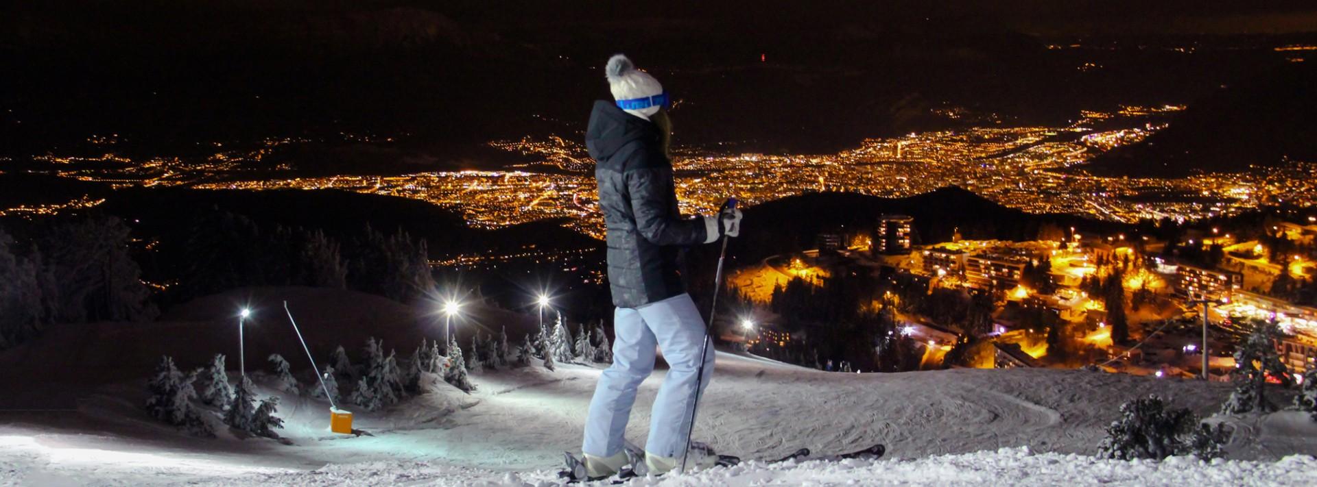 Ski nocturne Chamrousse