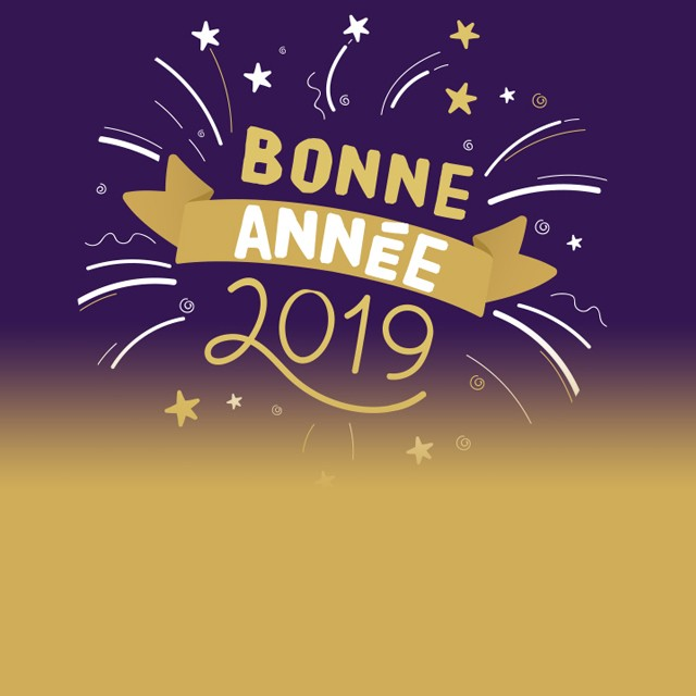 Happy new year 2019 in Chamrousse