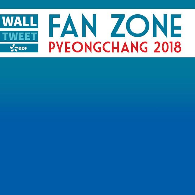 Fan zone JO Pyeongchang - Wall Tweet Chamrousse EDF