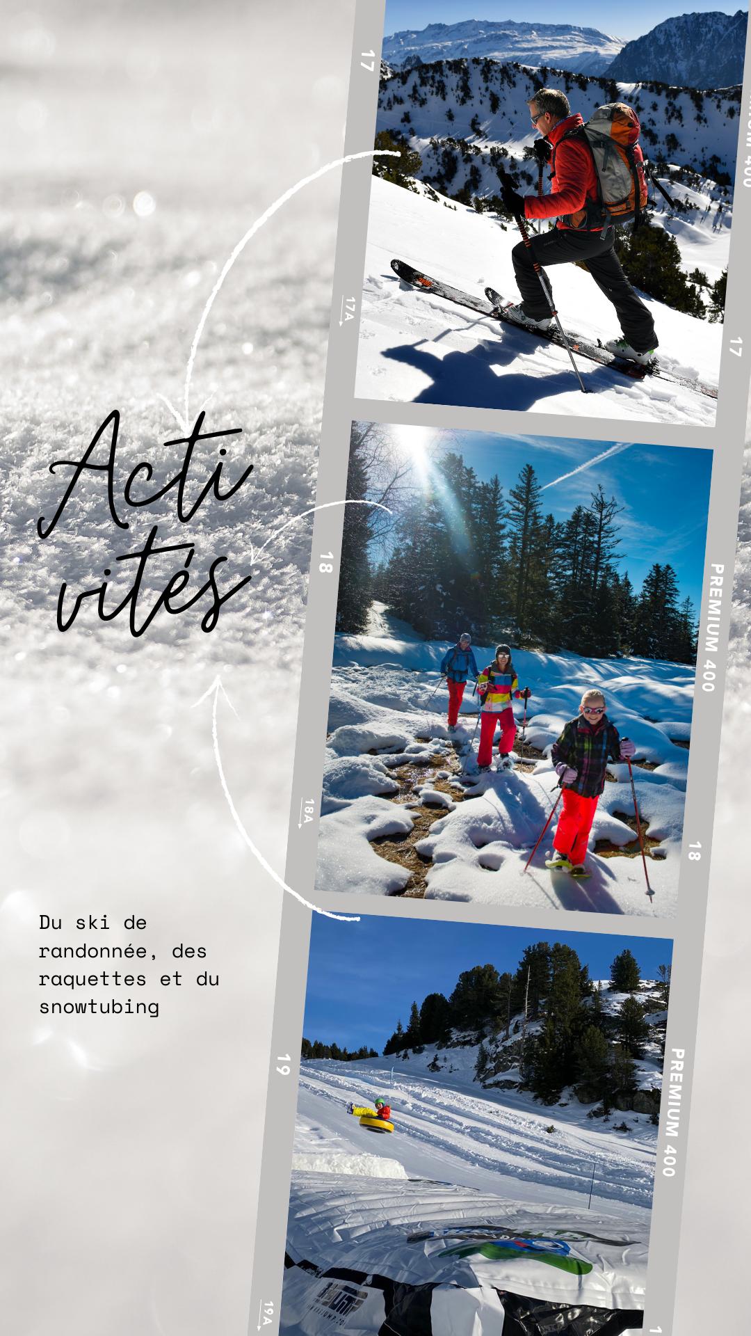 Chamrousse activité loisir raquettes ski randonnée snowtubing station ski montagne isère alpes france - © CP - OT Chamrousse / Canva