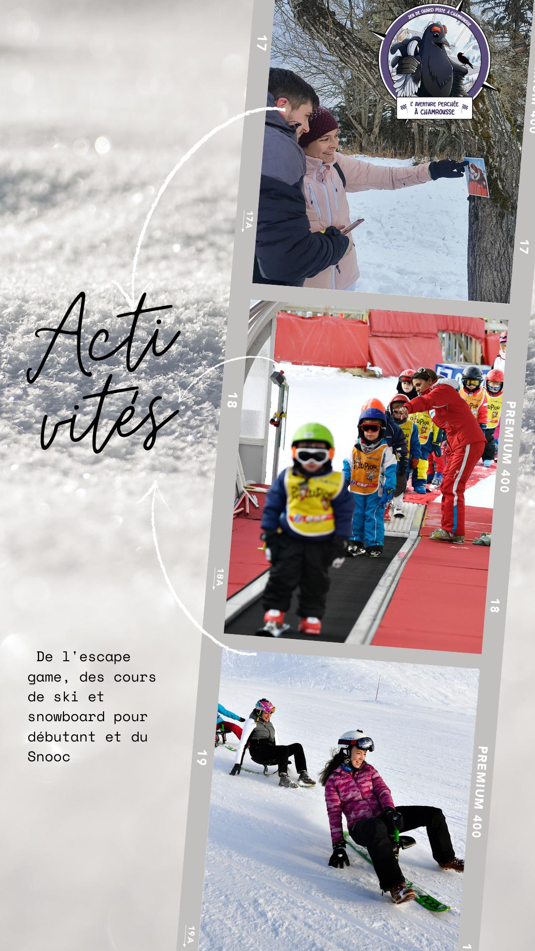 Chamrousse activité loisir escape game apprentissage ski snooc station ski montagne isère alpes france - © CP - OT Chamrousse / Canva