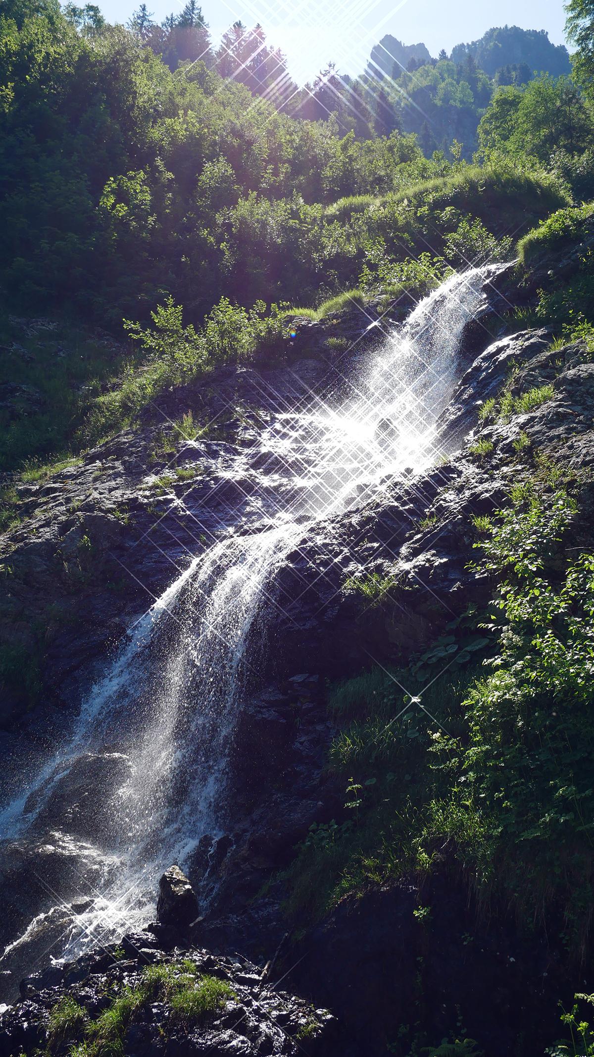 Chamrousse cascade Oursière station montagne été isère alpes france - © CP - OT Chamrousse