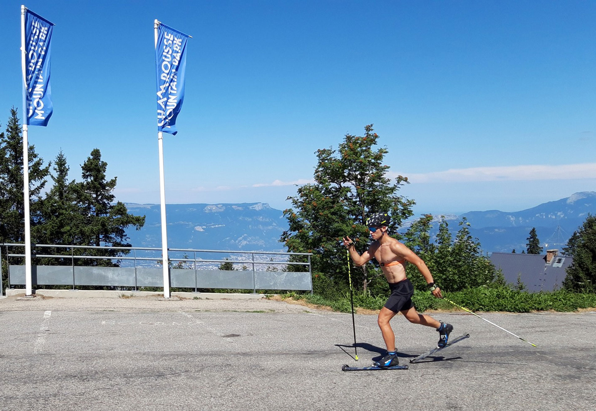 Chamrousse champion jérémy royer ski fond skating ski roue été snbc station montagne ski isère france - © Jérémy Royer