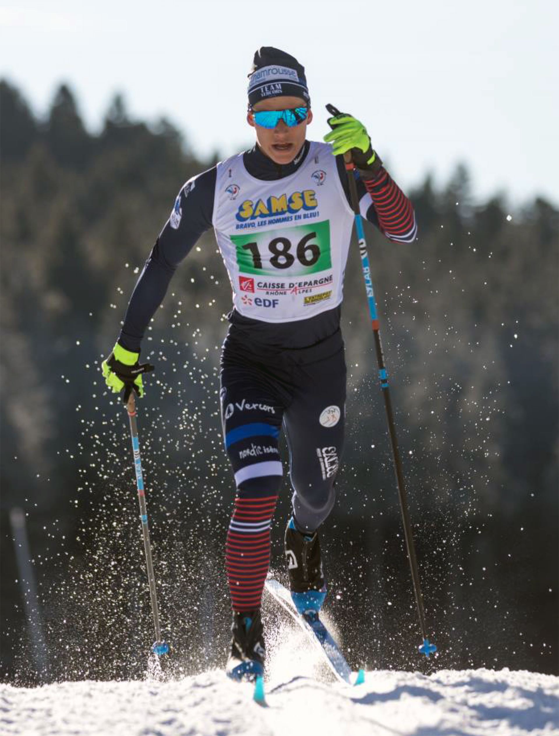Chamrousse champion jérémy royer ski fond skating snbc station ski isère france - © Jérémy Royer