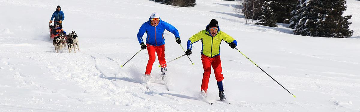 Chamrousse champion ski fond team p2 nicolas perrier david picard sportif station montagne ski isère alpes france - © Team P2