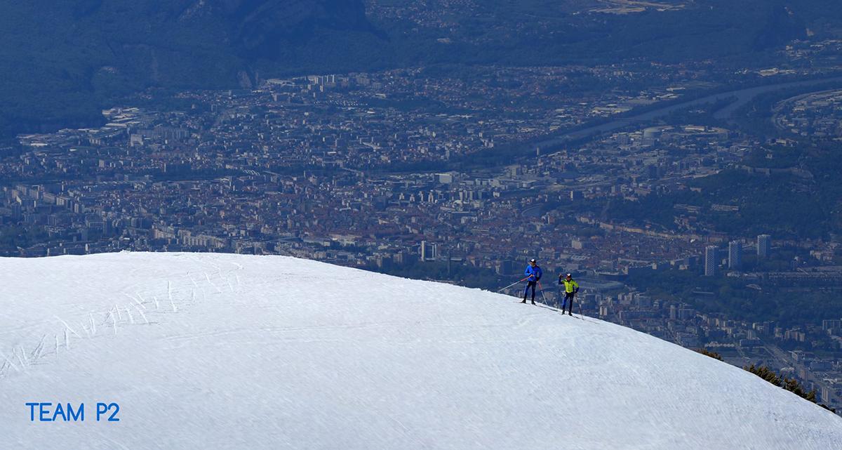 Chamrousse champion team p2 nicolas perrier david picard ski fond sportif ski vélo trail station montagne isère alpes france - © Team P2