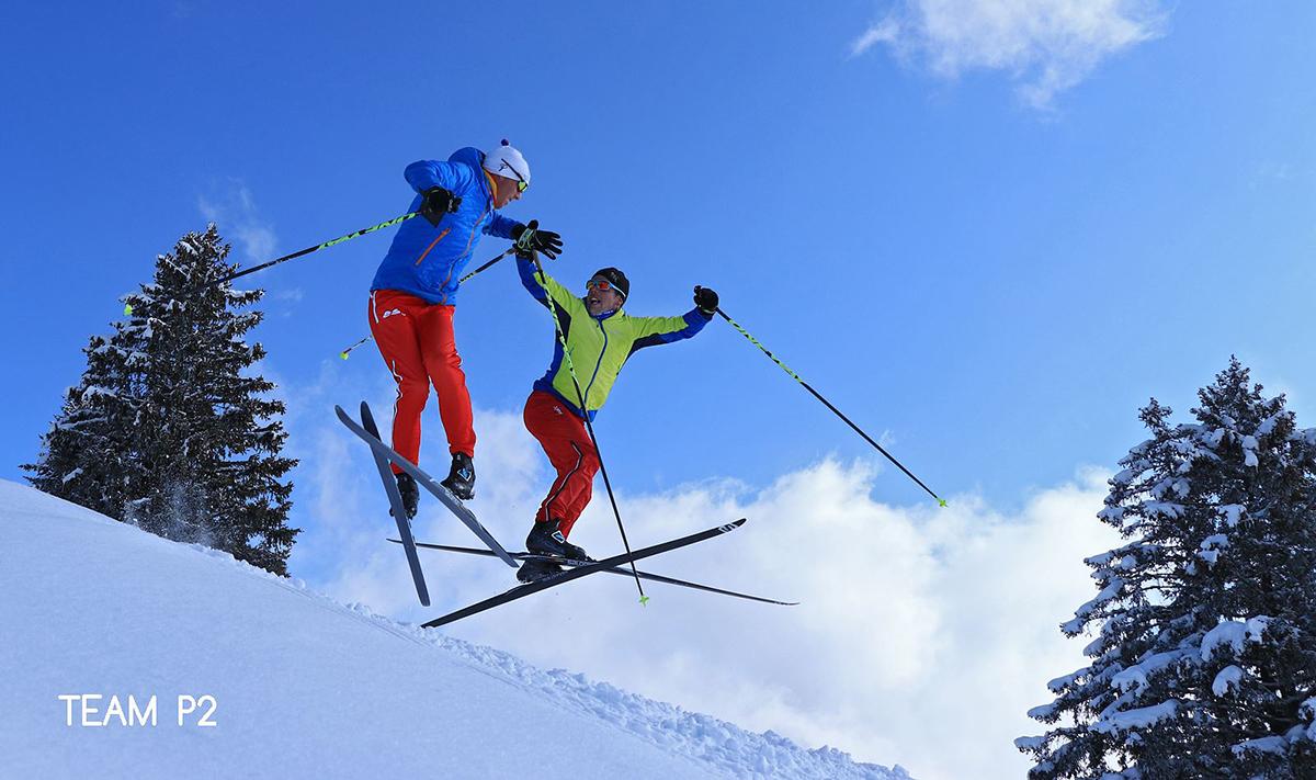 Chamrousse champion team p2 nicolas perrier david picard ski fond sportif station montagne ski isère alpes france - © Team P2