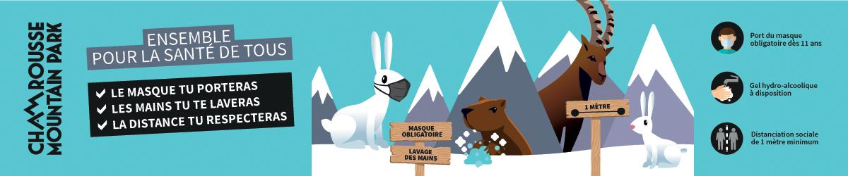 Chamrousse information covid info geste barriere station ski montagne isère alpes france - © CA - OT Chamrousse