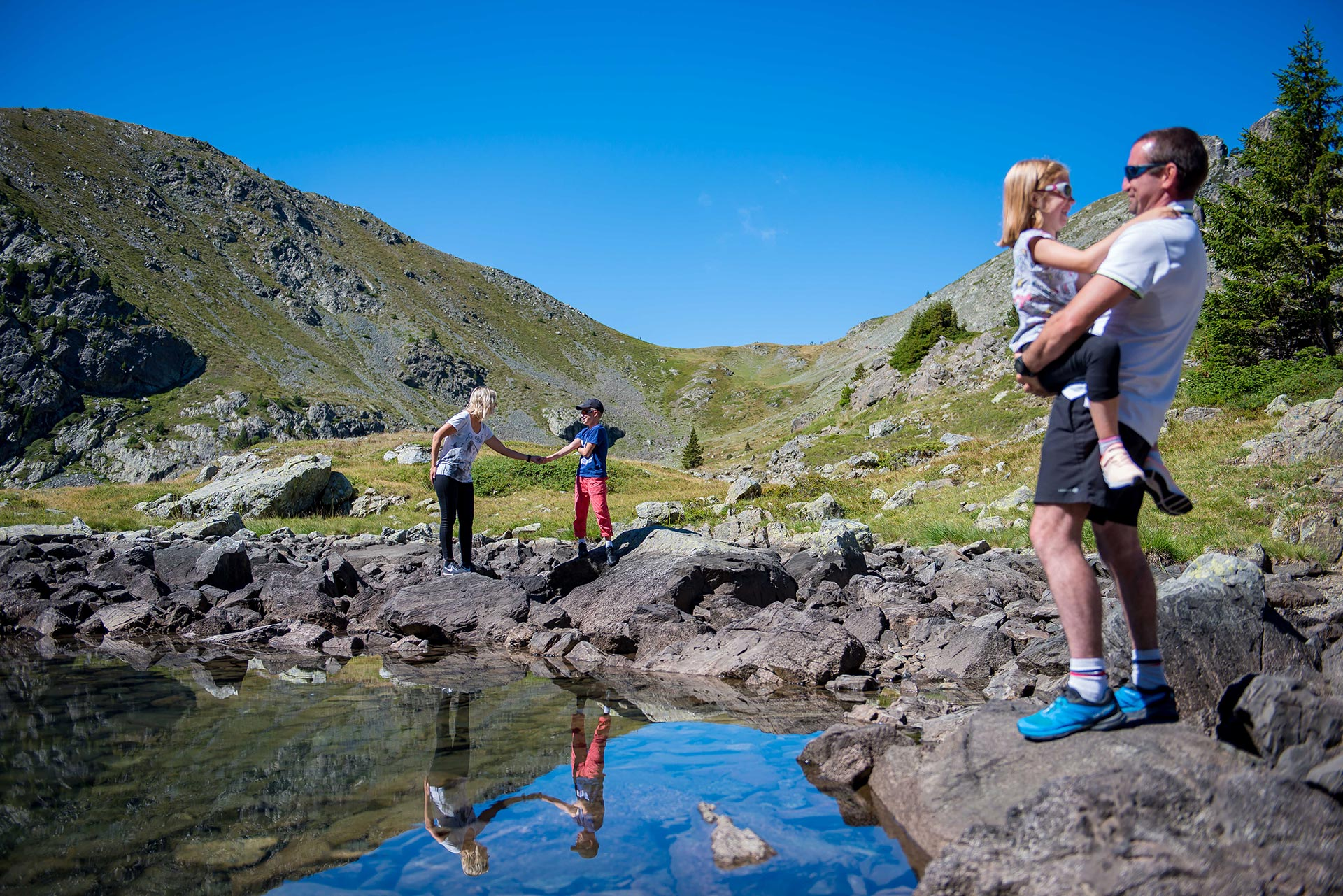 Chamrousse lac famille station montagne grenoble isère alpes france - © Images-et-reves.fr