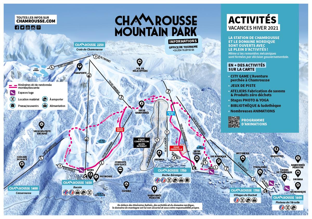 Chamrousse carte activités vacances hiver février 2021 station montagne ski isère alpes france - © CA - OT Chamrousse / Kaliblue