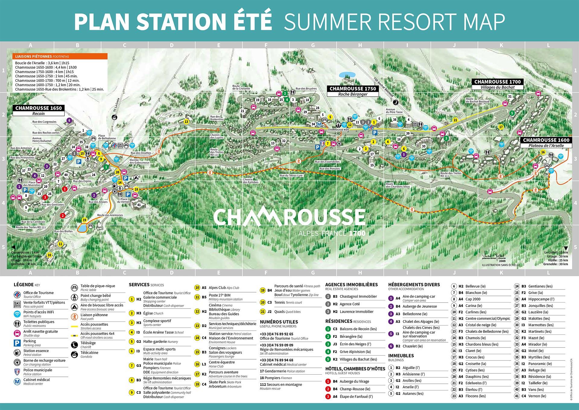 Chamrousse plan station été montagne grenoble isère alpes france