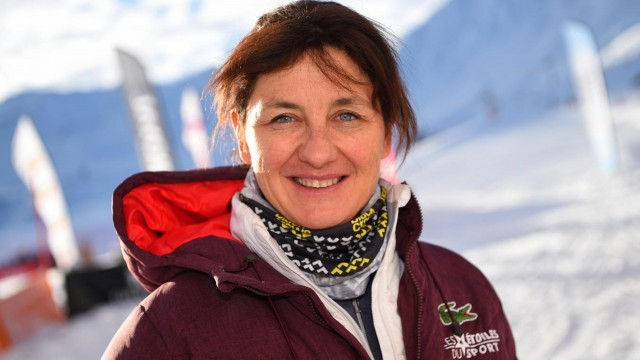 Chamrousse champion florence masnada winter olympic games 1992 1998 alpine ski mountain ski resort isere french alps france