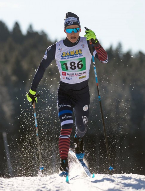 Chamrousse champion athlete jérémy royer cross-country skiing mountain ski resort french alps france