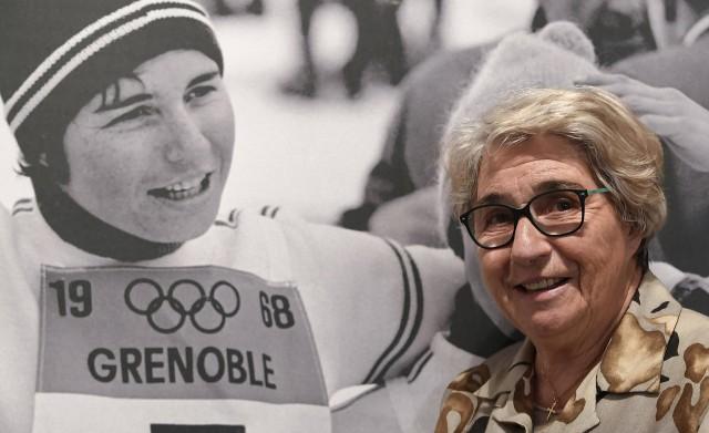 Chamrousse champion Marielle Goitschel Olympic Games winter 1968 alpine ski mountain resort isere french alps france