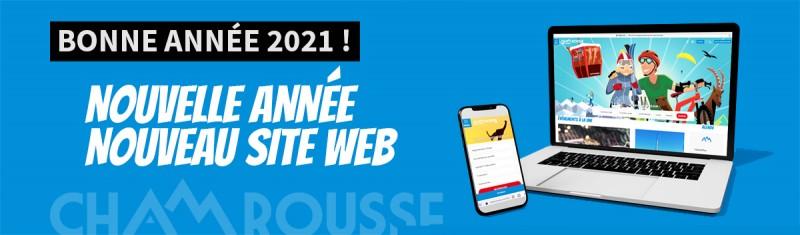 Chamrousse bonne année 2021 nouveau site web station montagne ski isère alpes france