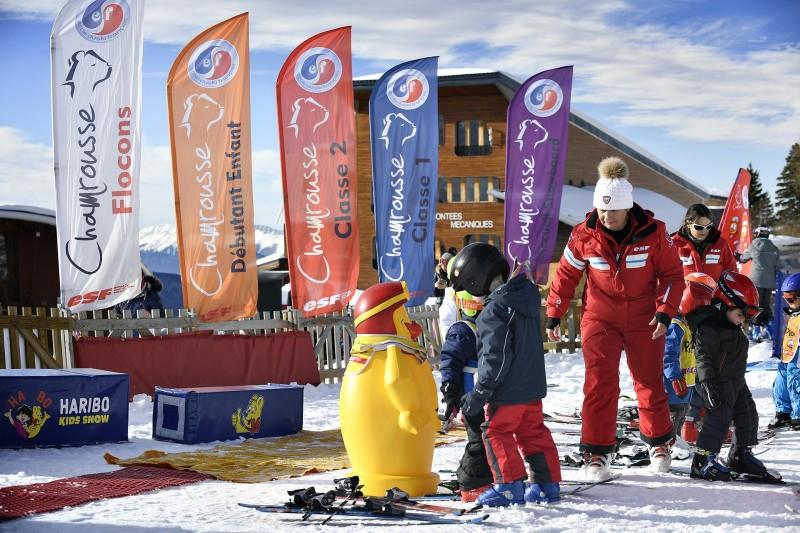Chamrousse cours ski débutant enfant adulte station ski montagne isère alpes france