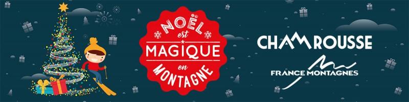 Chamrousse noel magique montagne station ski montagne isère alpes france