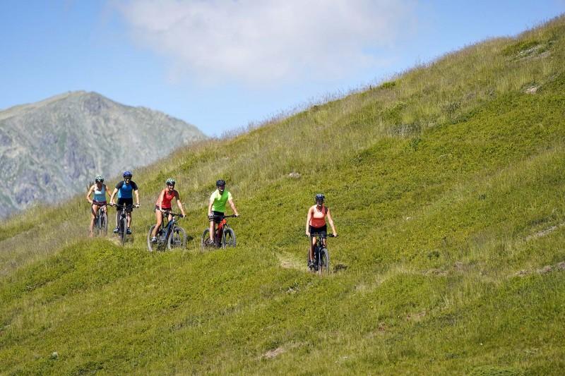 Chamrousse ebike trail mountain resort grenoble isere french alps france