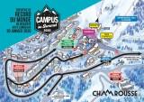 Plan circulation et parking Tentative de record du monde de descente aux flambeaux publique Chamrousse