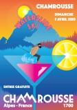 Affiche waterslide ski Chamrousse