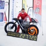 Eric Barone - recorman du monde de vitesse sur neige