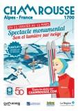 Affiche projection monumentale 140 ans ski - 50 ans JO